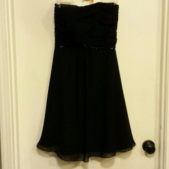 White House Black Market Dresses & Skirts - White House BlackMarket black strapless prom dress